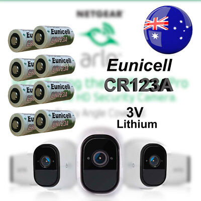 8 x Eunicell 3V CR123A CR17345 Non Rechargeable Battery Netgear Arlo Camera