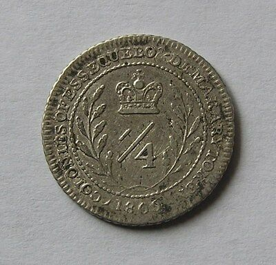 Essequibo & Demerary Silver 1/4 guilder 1809 George III