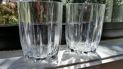 Two Large Heavy Whiskey Glasses - Crystal D'Arques?