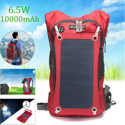 New Outdoor Travel Bag 6.5W Solar Panel USB Powered Detachable Backpack Charger