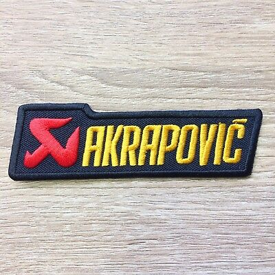 AKRAPOVIC Embroidered Sew Iron On Patch Exhaust Motorcycles Racing Motor Sport