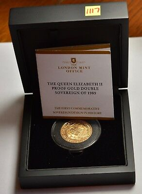 1989 Two Pound £2 Gold Proof Tudor Rose Double Sovereign  ®1117