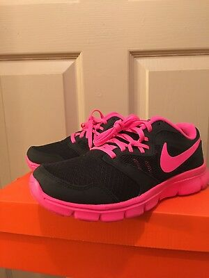 Nib Nike Flex Experience 3 Gs, Youth Girls Pink/black Running Shoes Size 5Y