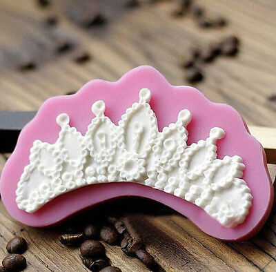 New Silicone Cake Mold Crown Shape Fondant Chocolate Decorating Mould