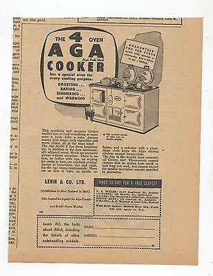 AGA 4 Oven Cooker Advertisement from 1955 Newspaper Oven Stove