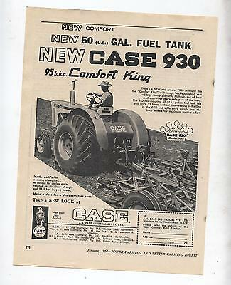 Case 930 Tractor Advertisement removed from 1964 Farming Magazine