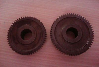 55 & 60 teeth lathe cogs, 21.5mm holes.