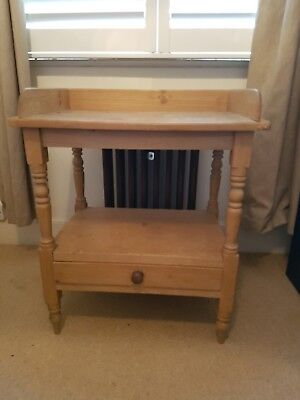 Antique pine washstand/hall table/desk