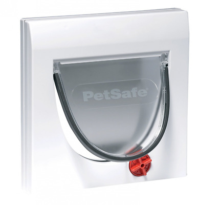 PetSafe 917EF Staywell Manual 4-Way Locking Classic Cat Flap with Tunnel, White