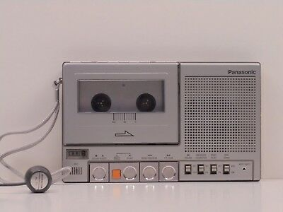 Panasonic RQ-2725 Cassette Player / Recorder + Monacor AC-71 Phone Mic - VG+