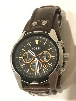 Men's Fossil Watch Brown Leather Band