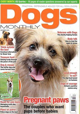 Dogs Monthly Magazine December 2015 BOXERS POLICE DOGS SIGNS OF STRESS