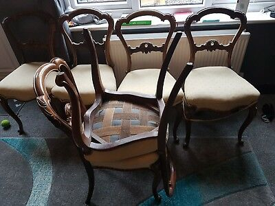 6 queen ann dining chairs