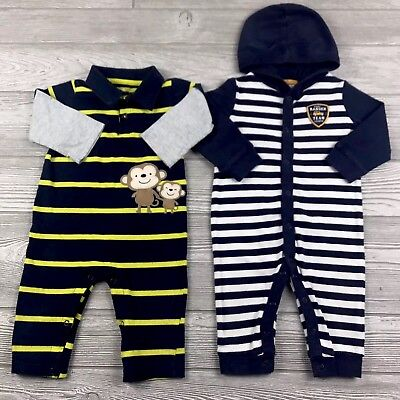 Infant Baby Boy Clothes Size 9 Months Sleeper Outfits Mixed Lot Set
