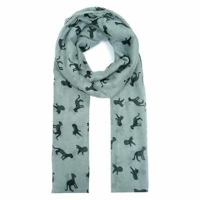 Ladies Womens Cat Print Scarf Large 6 Foot Warm Lightweight Shawl Wrap 5 Colours