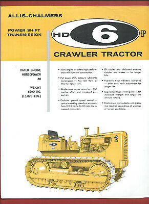 ALLIS-CHALMERS HD-6EP 80HP CRAWLER TRACTOR sales technical leaflet