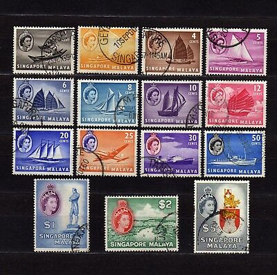 Singapore #28-32 Used Definitive Set Of Various Boats & Views