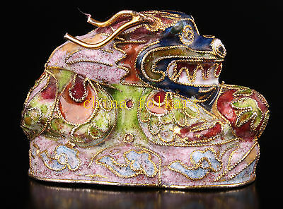Rare Statue Dragon Figurines Cloisonne Collectable