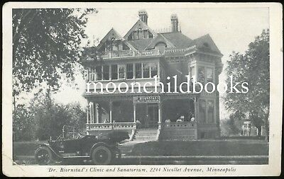 Antique DR BIORNSTAD'S SANATORIUM vtg photo postcard MINNEAPOLIS MN medical