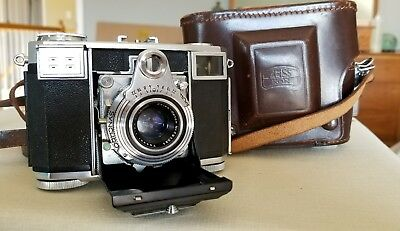 Zeiss Ikon Contessa 35mm Camera with Leather Case