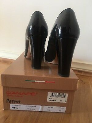 Scanlan theodore black leather shoes size 38 aud for Canape shoes italy