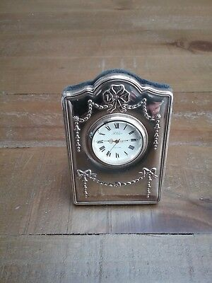 Here Is A Beautiful Solid Silver Clock - Carr's Of Sheffield - 1995