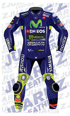 Motogp 2017 Race Movistar Motorbike, Motorcycle Valentino Rossi Leathers Suit