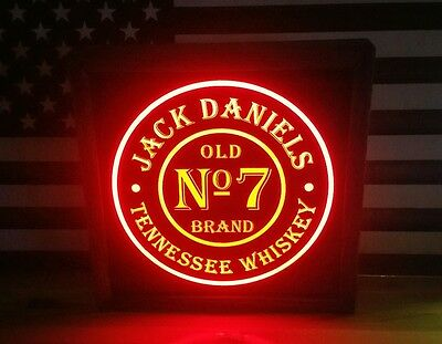 Jack Daniels 12 x 12 Man Cave Remote Control RGB LED Sign led box