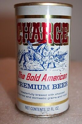 Charge Premium Beer 12 oz. SS pull tab from Huntington, West Virginia