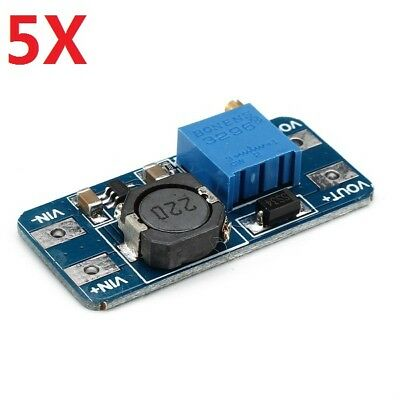 5X DC Boost Converter 2A Power Supply Module 2V-24V To 5V-28V Adjustable Regulat