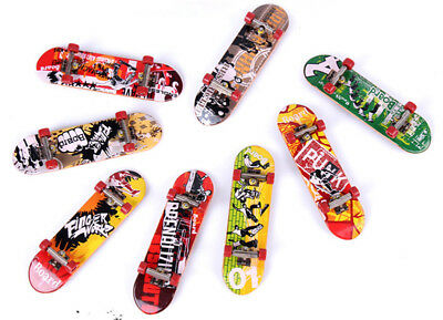 Random Color Graffiti Finger Skateboard Mini Suit With Tools Toys For Kids Child