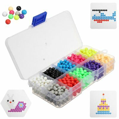 10 Color Aqua Sticky Perler Beads Pegboard Set Fuse Beads Water Beadbond Jigsaw