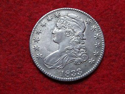 1933 Capped Bust Half Dollar , Bold Strike, Very Nice !!!!!!!!!!!!!!