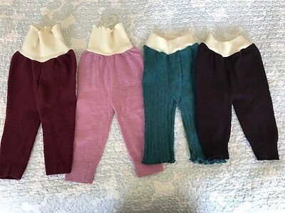 Wool Pants Small Diaper Covers Upcycled New Lano'd Lot Of 4
