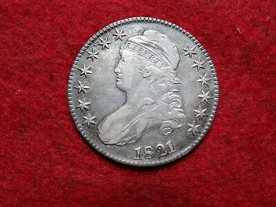 1921 Capped Bust Half Dollar , Toned