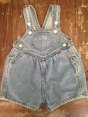 Vintage Infant Baby Girls GUESS Denim Jean Overalls 12 M