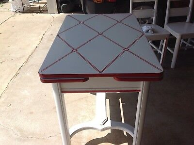 Vintage Enamel Top Table and 4 Chairs