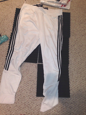 Switch Track Pants Hip Hop Style ~ NWT~  White W/Black Stripes $46  Size XXL