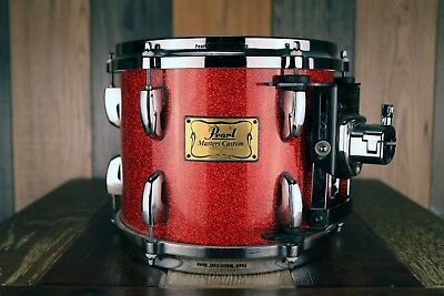 Pearl 10 X 8 Mmx Masters Custom Tom, Red Sparkle Lacquer (Pre-Loved)