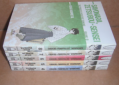 Sayonara Zetsubou-Sensei Vol. 4,5,6,7,8 Manga Graphic Novels Set English