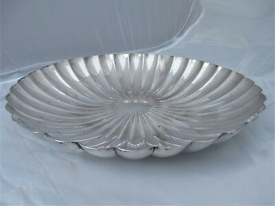Elkington Silver Plate Scalloped Large Fruit Bowl Mid 1900S