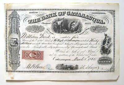 Bank of Catasauqua Stock Certificate 1866 R44