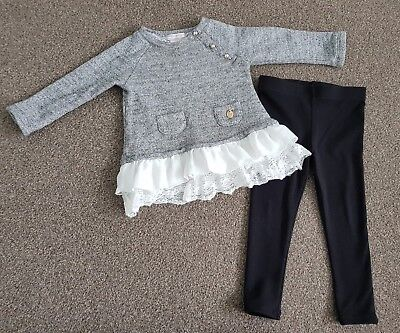 Catherine Malandring Baby Girls Leggings & Top Outfit Set Age 12-18 Months