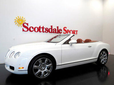 """2007 Bentley Continental GT ONLY 19K MILES, WHITE/TAN, 20"""" CHRM WHLS, LOADED, 07 BENTLEY GTC * 19K Mi, WHITE-TAN, 20"""" CHORME WHEELS, MADRONA VENEER, AS NEW!!"""
