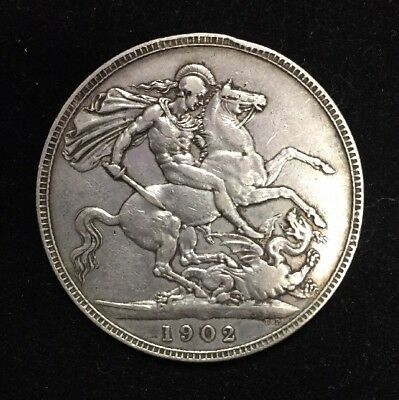 1902 Great Britain Crown Silver Coin. You Grade.