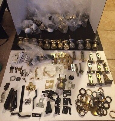 Large Lot Of Vintage Door Knobs, Levers, Parts, Sets, Keys, Manuals, And More