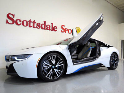 "2014 BMW i8 ONLY 1K MILES, PURE IMPULSE WORLD PKG, 20"" iLITE W 2014 BMW i8 * ONLY 1K MILES!, WHITE, PURE IMPULSE WORLD, $149K MSRP, AS NEW!"