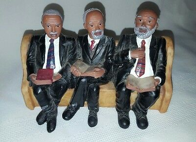 United Treasures Church Collection Mature African American Men Figurine