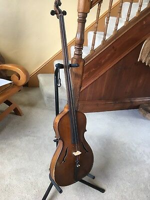 Antique Two String Fiddle Viol Viola Cello ?unusual 19th Century? Project