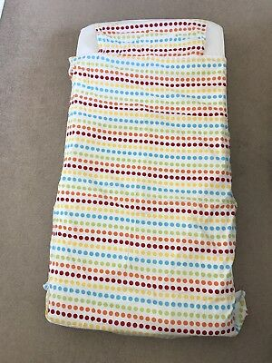 Gro to bed stay on duvet cover and sheet COT BED size grobag UNISEX zip on